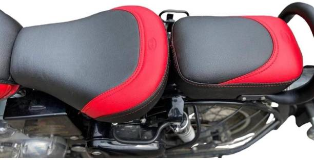 KOHLI BULLET ACCESSORIES Stylish seat cover Black & Red For Royal Enfield Classic , Classic 350cc , Classic 500cc , Classic Chrome , Classic Desert Storm Split Bike Seat Cover For Royal Enfield Classic Chrome, Classic Desert Storm, Classic 350, Classic, Classic 500
