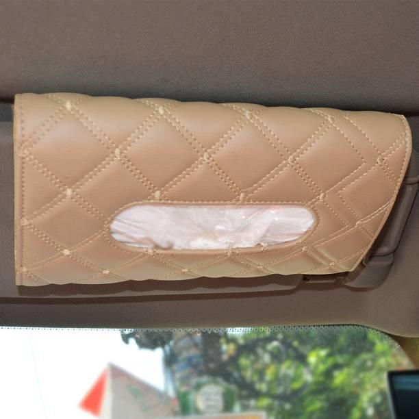 AutoFurnish 7D Car Sun Visor Tissue Holder Box with Free Tissues Vehicle Tissue Dispenser