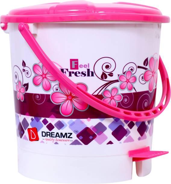 THE PRINT HUB DREAMZ Plastic Printed Pedal Bin(Dustbin), Capacity: 5 L Plastic Dustbin (Pink) Plastic Dustbin