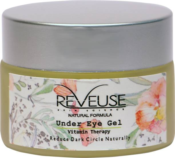 reveuse skinscience Skin Science Vitamin Therapy Under Eye Gel with Natural Ingredients to Reduces Dark Circles,Puffiness, Eye Wrinkles And Remove Fine Lines for Men and Women, 30 g, 1.05 oz