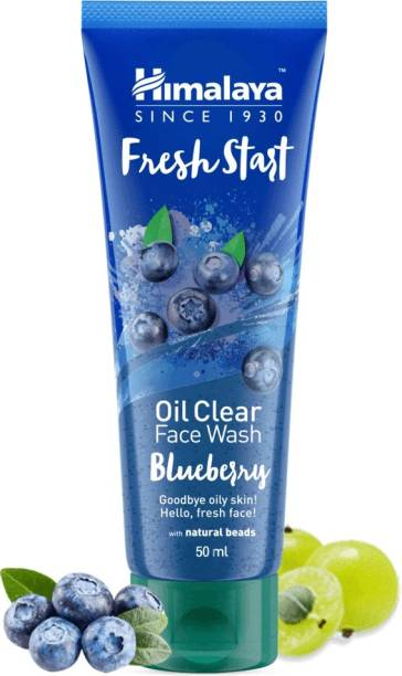 HIMALAYA Since 1930 Fresh Start Oil Clear Blueberry  50ml Pack of 4 Face Wash