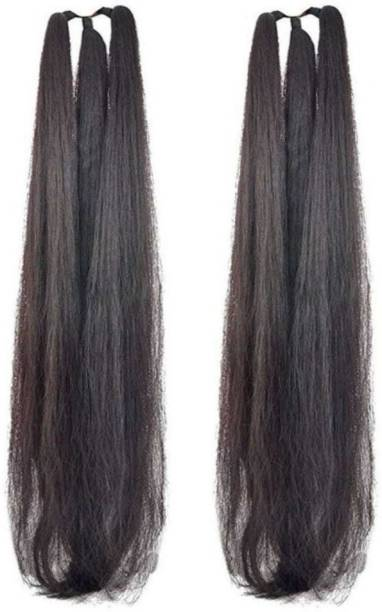 Deluxe set of 2, 24inch hair parandi black for wedding accessories/hair extension Hair Extension