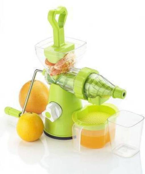 MYYNTI Plastic Hand Juicer Hand Juicer for Fruits and Vegetables with Steel Handle Vacuum Locking System,Shake, Smoothies, Travel Juicer for Fruits and Vegetables, Fruit Juicer for All Fruits,Juice Maker Machine
