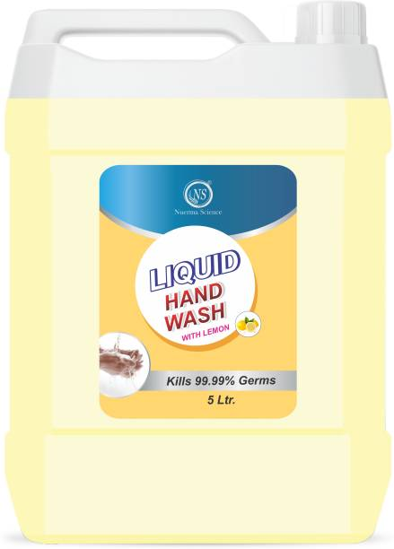 Nuerma Science Liquid Hand Wash with Lemon (Kills 99.9% Germs & Bacteria) (Pack of 1) Hand Wash Can