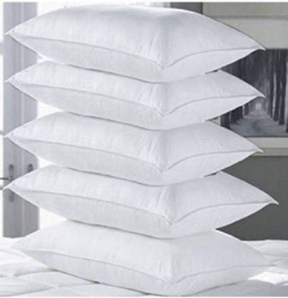 Boggy Polyester Fibre Solid Sleeping Pillow Pack of 5