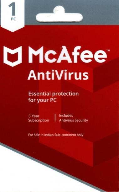 McAfee Anti-virus 1 User 3 Years