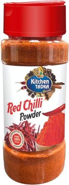 KITCHEN TADKA  Red Chilli Powder Lal Mirch Powder Easy Store Bottle/Pack 
