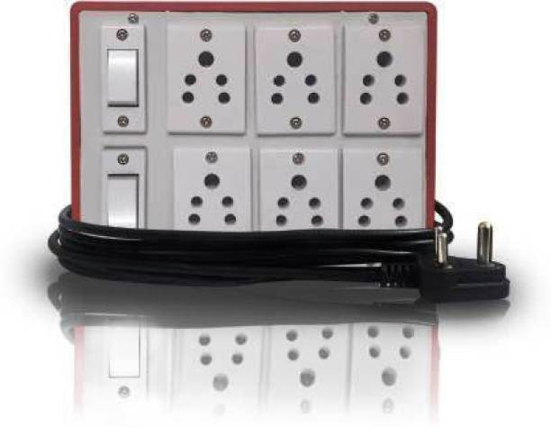 savaliyatechnology savaliyatechnology (6+2) Extension Switch Board with 6 Mile Sockets(5A) and 2 Mile Switches(5A)-3Mtr Long Wire 2 Socket Extension Boards (White, Brown) 6  Socket Extension Boards