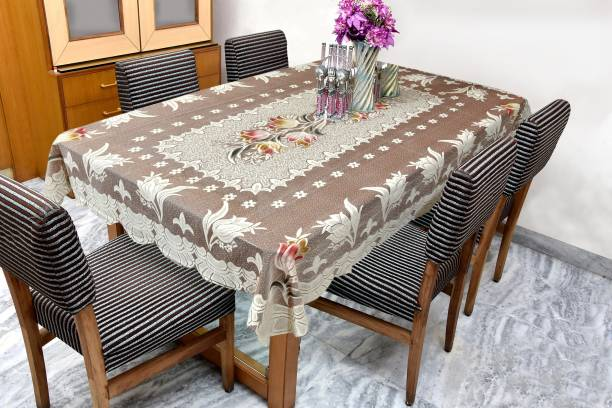 GAURANG Printed 6 Seater Table Cover