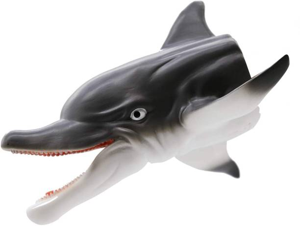Webby Realistic Dolphin Rubber Hand Puppet Soft Toys for Kids Hand Puppets