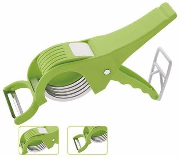 RIBBRO Plastic Vegetable and Fruit Cutter, Green Vegetable & Fruit Slicer