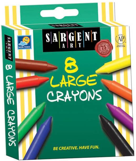 SARGENT ART INC. Sargnt Art 35-0561 8-Count Large Crayon, Peggable