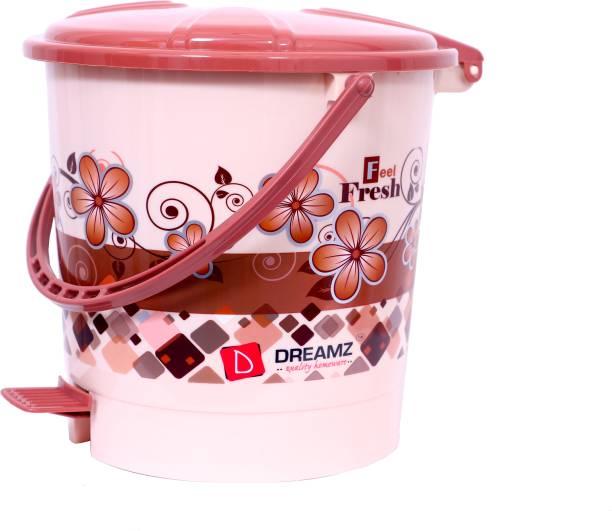 THE PRINT HUB DREAMZ Plastic Printed Pedal Bin(Dustbin), Capacity: 5 L Plastic Dustbin (Brown) Plastic Dustbin
