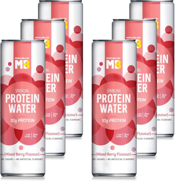 MUSCLEBLAZE Sparkling Protein Water (10g Protein), Mixed Berry Energy Drink