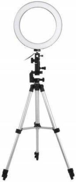 KEMIPRO BIG SELFIE RING LIGHT WITH TRIPOD STAND FOR VIDEO AND PIC CLICK Ring Flash