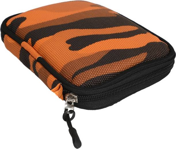 JPRS Orange Army Case for Backup Slim, Wired , Plus Slim Wired, Expansion Wired, Passport , Elements, Wired, , F309, Store , , DashDrive HD710, , M3 500 GB, 1TB 1 TB, 1.5TB 1.5 TB, 2TB, 2 TB, 3TB 3 TB, 4TB 4 TB External Hard Disk Drive HDD ( Casing Hard Case Cover Enclosure Bag Sleeve) (Orange, Shock Proof,Waterproof) 2.5 inch External Hard Disk Cover