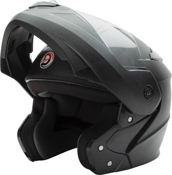 GTB FLIP UP HELMET-BLACK Motorbike Helmet