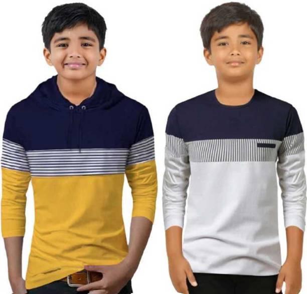 FastColors Boys Colorblock Pure Cotton T Shirt