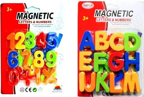 HEZALWOOD Learning Numbers, Premium123 Educational Magnets with Learning ABCD Block 26 Letter Alphabet for kids