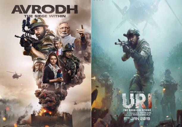 Avrodh the Siege , Uri: The Surgical Strike (clear HD print clear audio) it's burn DATA DVD play only in computer or laptop it's not original without poster