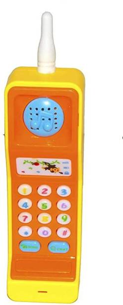 mahakal Funny Flip Mobile Phone for Kids, Early Education Toys with Music and Light (Multicolor)