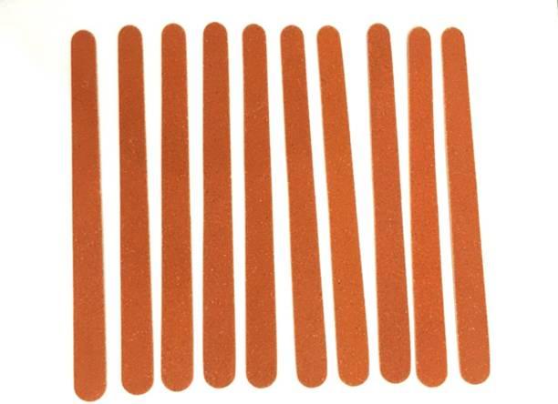 Aria AE 10 Pieces Emery Board Nail Filer(Brown;150mm)