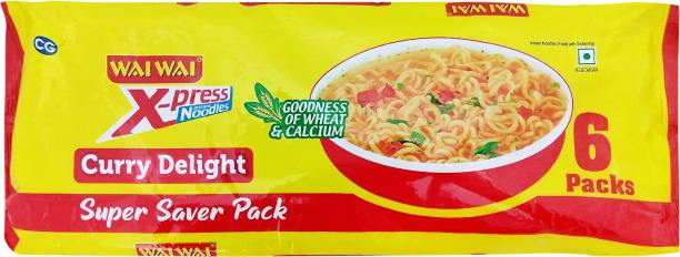 Wai Wai Curry Delight Instant Noodles Vegetarian