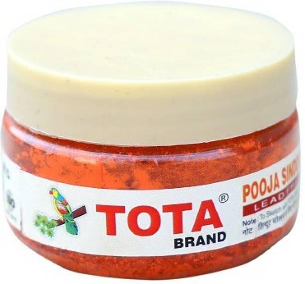 TOTA Sindoor for Pooja ,Tilak , Hanumanji and Ganesh ji Puja| 100% Lead Free | Pack of 4 (20gm x 4) Sindoor