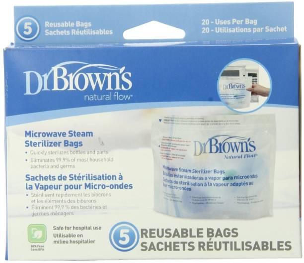 Dr. Brown's Microwave Steam Sterilizer Bags-5 Bags Per Pack - 1 Slots