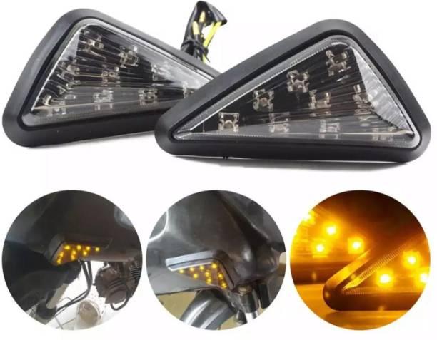 BIKER SHOPPEE Front LED Indicator Light for Yamaha R15 V2, Ninja 250, CBR 250, R15, R15