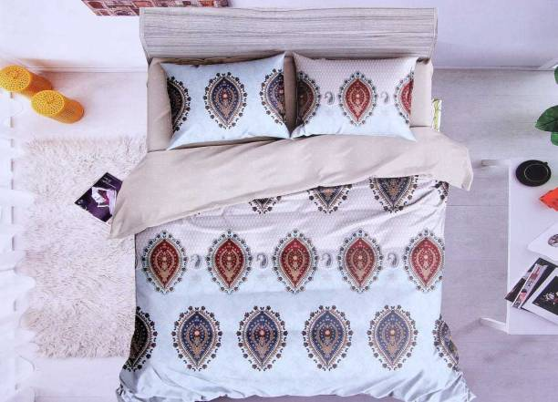 CRAFTWELL 220 TC Cotton Double King Floral Bedsheet