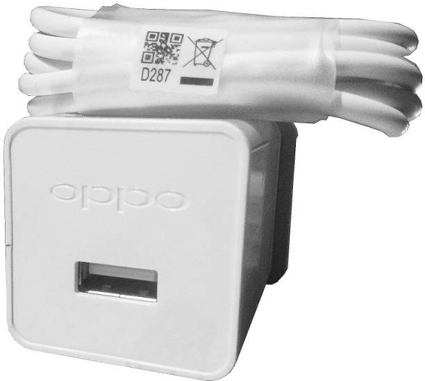OPPO Charger Original With Data Cable Compatible With All Android Mobile 5 W 2.4 A Mobile Charger with Detachable Cable