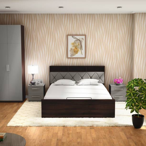 Godrej Interio Lattice Engineered Wood King Box Bed