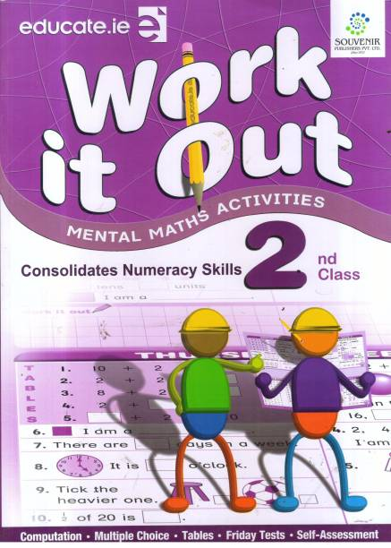 WORK IT OUT CLASS -2 - Mental Math Child Activity Book: Work it out Best Book For kids like as Brain Booster