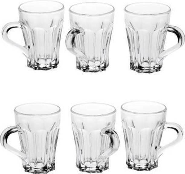 Flipkart SmartBuy Pack of 6 Glass Transparent clear tea cup of 150 ml