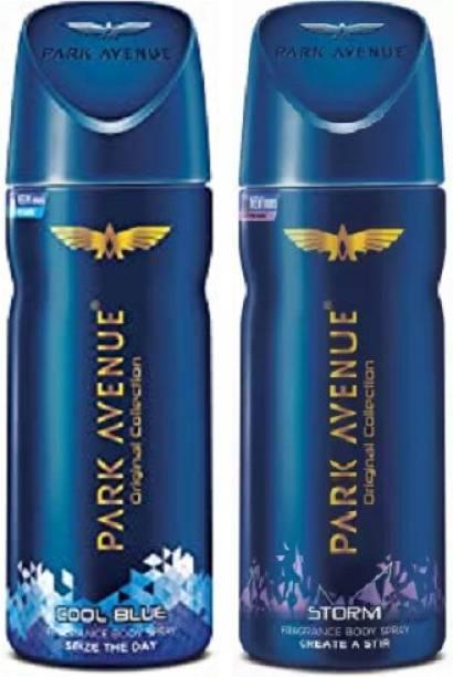 PARK AVENUE Cool Blue + Storm Body Spray 2Pcs FD2256 Body Spray  -  For Men