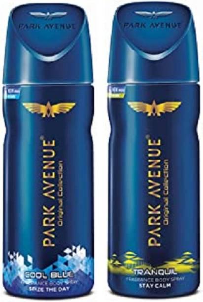 PARK AVENUE Cool Blue + Tranquil Body Spray 2Pcs DL5298 Body Spray  -  For Men
