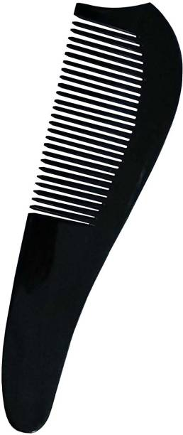 """Ginni Marketing Handmade, 100% Natural Buffalo Horn Comb (Non-static) (for hair regrowth, for men, for women, for kids)(black)(Size-7"""")"""