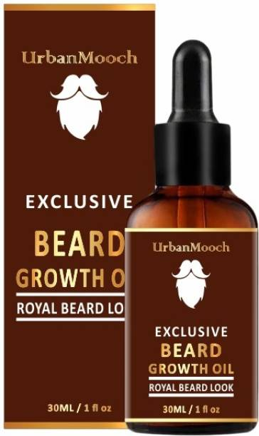 UrbanMooch Exclusive Beard Growth Oil for Strong and healthy beard growth & Patchy- Hair Oil
