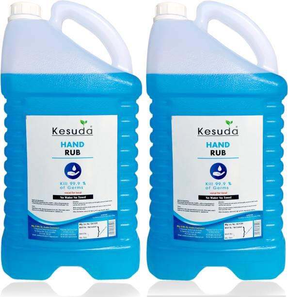 KESUDA Alchohol Base 2pcs 5 Liter Hand Rub LIQUID (5+5L) Hand Rub Can