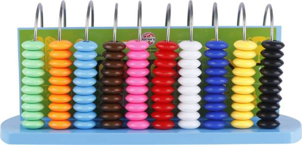 GENIUS GEMS EDUCATIONAL ABACUS FOR KIDS(100 COLOURFUL BEADS TO ENHANCE LEARNING)