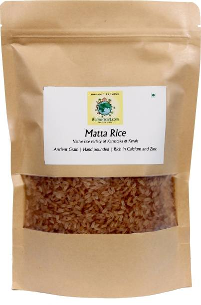 iFarmerscart Matta Rice Brown Rosematta Rice (Medium Grain, Unpolished)