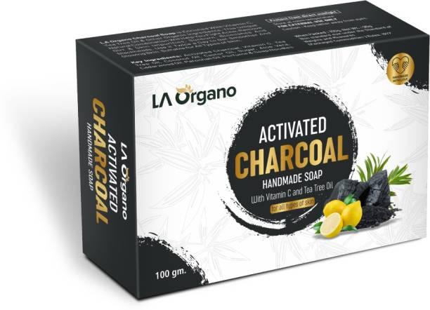 LA Organo Charcoal Handmade Natural Bath Bar Soap