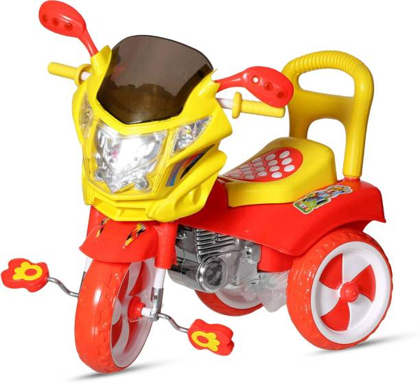 Miss & Chief Stylish Kids Tricycle , tricycles , Kids Cycle , Ride on for boy and Girl for 2 to 5 Years with Under seat Storage Space, Lights and Music. MnC_Victor_DX-Red Tricycle