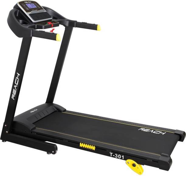 Reach T-301 Motorized Automatic Treadmill For Home Bluetooth App Driven 2 HP Continuous Motor Running Machine Treadmill