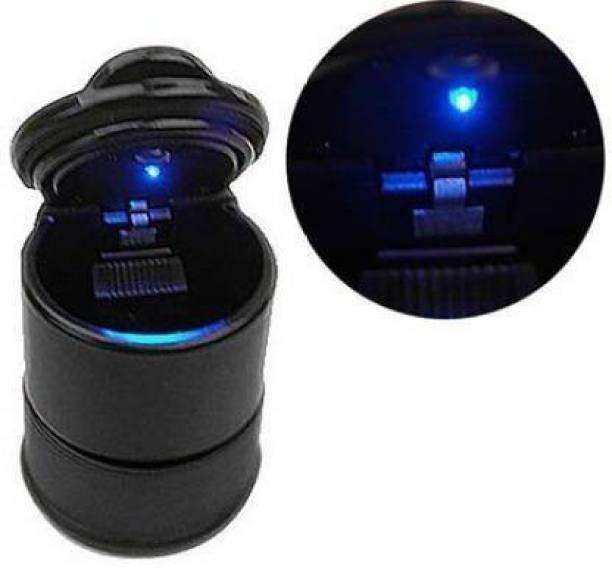 Etradezone LED plastic ash tray for car/home/bar(black) Black Plastic Ashtray