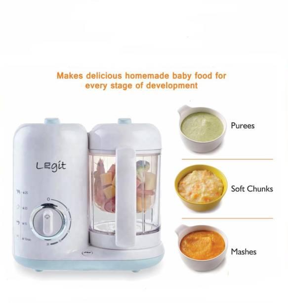 Legit LEGIT 4-in-1 Baby Food Maker- Steamer, Blender, Defroster, Cooker, Grinder & Puree Comes with Nutrition Feeder, BPA-Free, Blue & White