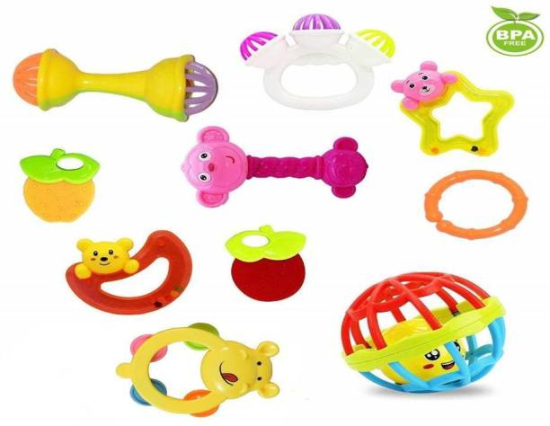 KGF Various Exciting Toys for New Borns & Infants Rattle Rattle (Multicolor) Rattle