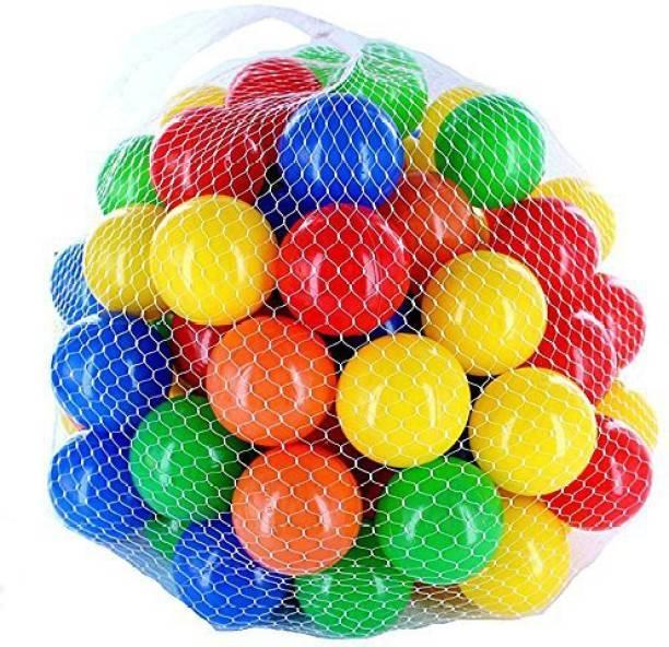 Balaji International Colourful Large Size (8 cm) Big Plastic Balls Light Weight Set of 24 Balls Size Pool Play ,Bath Toy or General Play Minimum Age 1 Years (Set of 24) Bath Toy