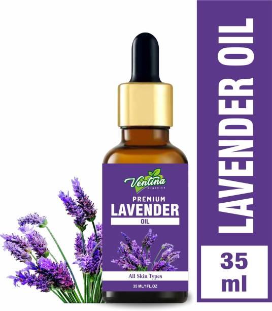 Ventina Organics Best Lavender Essential Oil, 100% Natural & Pure, for Hair, Skin, Face (35 ml)